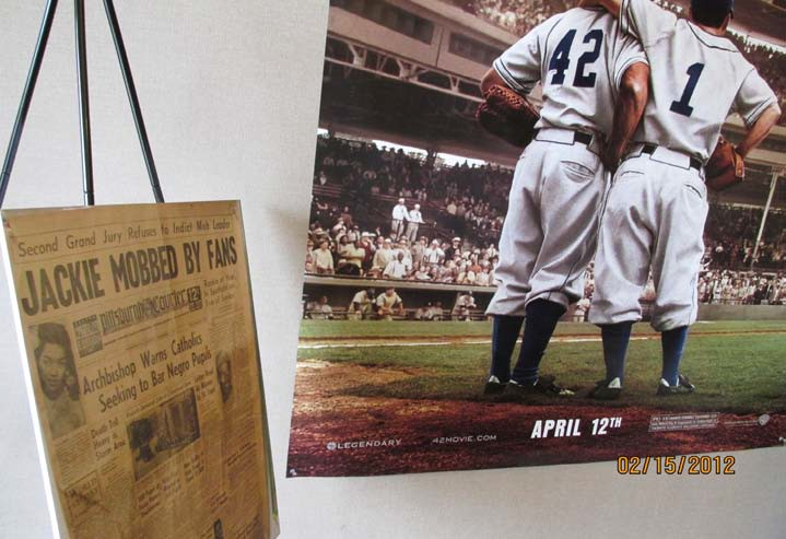 In Collaboration with the Gateway Theatre: The museum setup a special exhibit at the Gateway Theatre to help promote the Jackie Robinson Movie Number 42. The museum offered half price for visitors to tour the museum if they brought back the movie theatre ticket stud to the museum.
