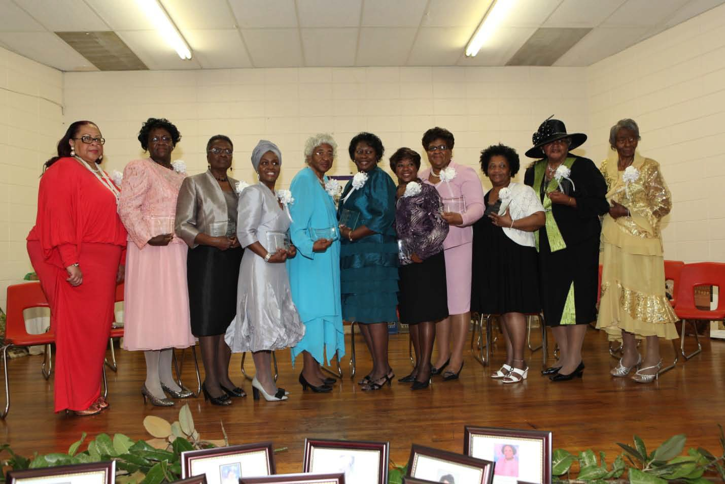 Honorees for 2013: Left to Rights: Dr. Linda I. Walden, Ann Flowers, Emorial Mitchell, Beverly Reynolds, Pearline Thompson, Delores Hugan, Josephine Mullins, Sabrina Boykins-Everett, Charlotte Johnson, Mae France Hayes & Hazel Nixon Beard.