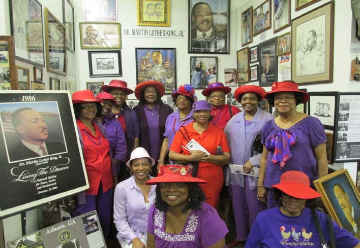 The Red Hat Sisters of Tallahassee, Florida, traveled to the museum to see the special exhibit on the Rev. Dr. Martin Luther King, Jr. Dr. King who became the top Civil Rights Leader in the South and the Nation, Changed America. After the march on Washington in August 1963, President Lyndon B. Johnson signed the Civil Rights Act on July 2, 1964.
